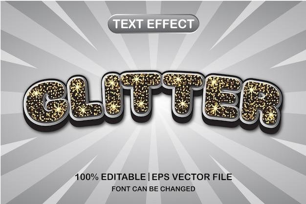 Блеск 3d редактируемый текстовый эффект