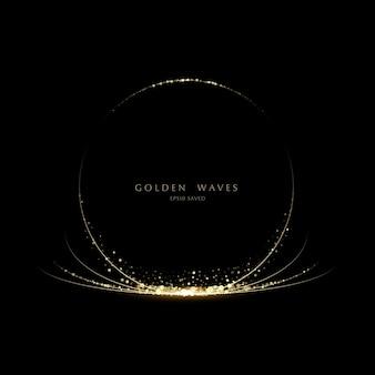 Glitter background luxury gold stardust light