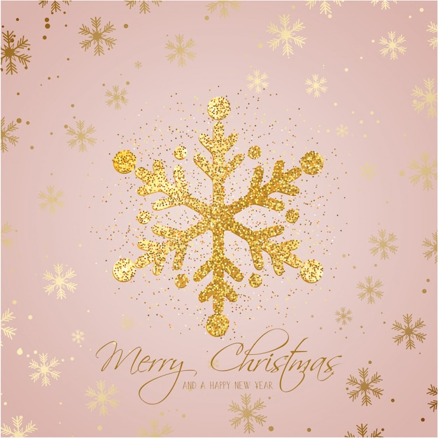 Glitter christmas snowflake background