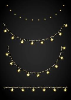 Glitter golden festoon and garland
