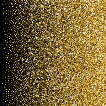 Glitter golden gradient with scattered sparkles