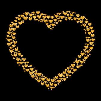 Glitter golden heart