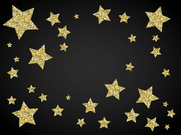 Glitter golden stars