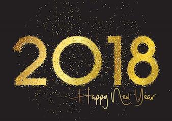 キラキラ新年の背景