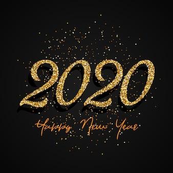 Glitter happy new year