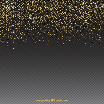 Glitter particles background with space on bottom