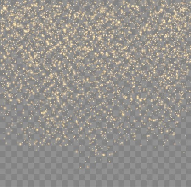 Glitter particles bokeh lights