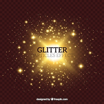 Glitter particles effect