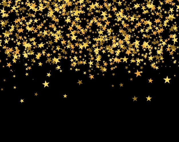 Glitter pattern made of stars