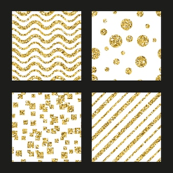 Glitter patterns set
