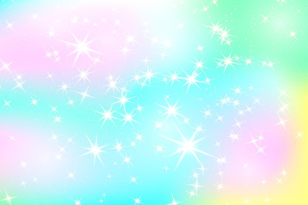Glitter rainbow background. the sky in pastel color. bright mermaid pattern.vector illustration. unicorn colorful backdrop.