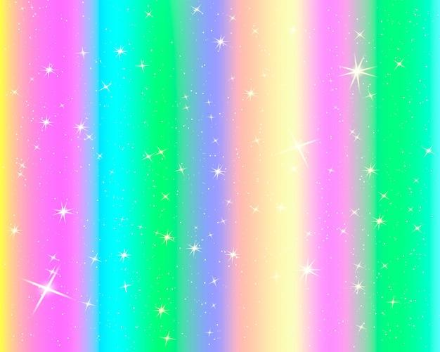 반짝이 무지개 배경. 파스텔 색상의 하늘입니다. 밝은 인어 패턴.