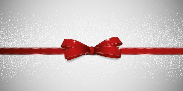Glitter red bow background