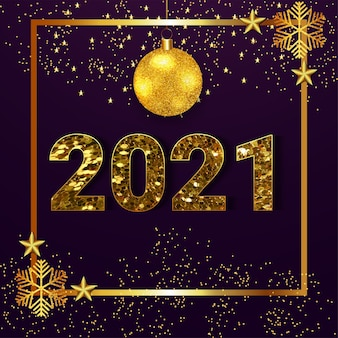 Glitter text effect for happy new year celebration