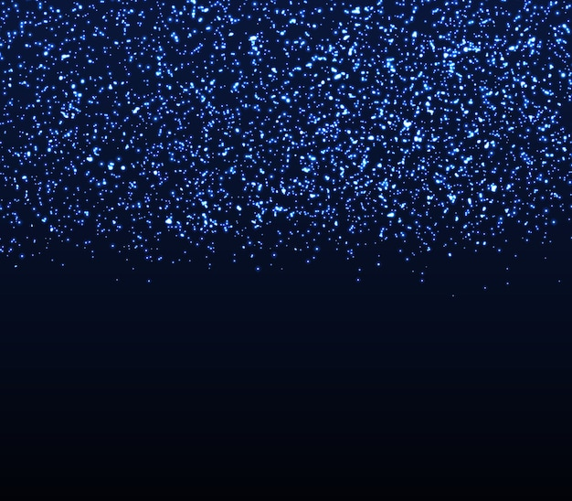 Glitter texture. falling particles. blue lights.