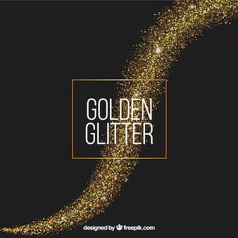 Glitter wave background in golden style