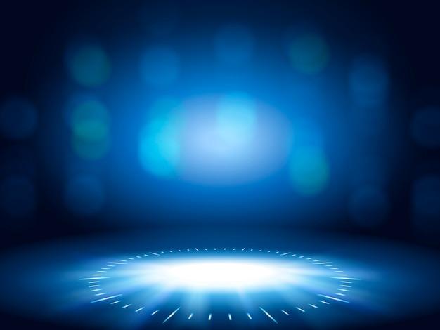 빛나는 bokeh 배경, 사용을위한 파란색 장식 벽지