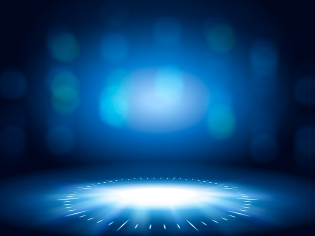 Glittering bokeh background, blue color decorative wallpaper for  uses
