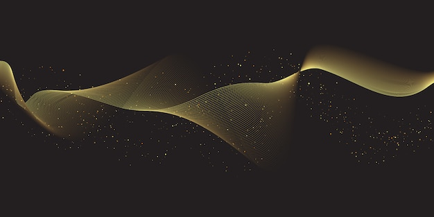 Glittering flowing gold lines