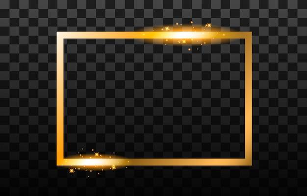 Блестящая золотая рамка.