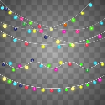 Glittering light bulbs