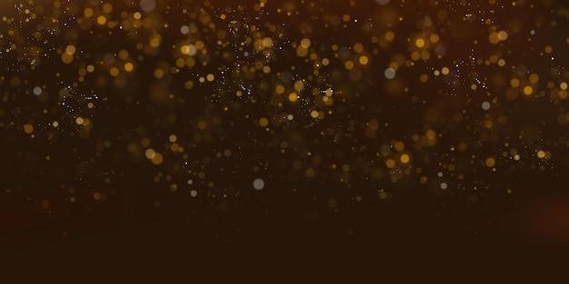 반짝이는 요정 가루 입자. 마법의 개념. 초록 축제 배경입니다. 크리스마스 배경입니다. 우주 배경.