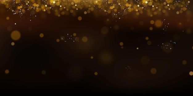 妖精のほこりのきらびやかな粒子。魔法の概念。抽象的なお祭りの背景。クリスマスの背景。スペースの背景。 Premiumベクター