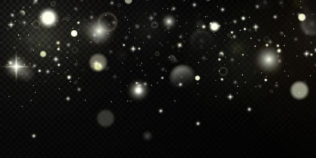 요정 먼지 매직 개념의 빛나는 입자