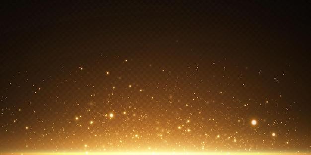 妖精のほこりのきらびやかな粒子