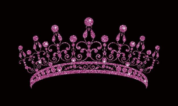 Glittering pink diadem