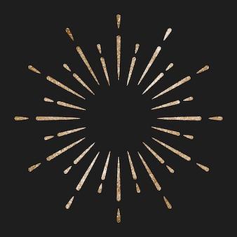 Fuochi d'artificio d'oro festivi scintillanti