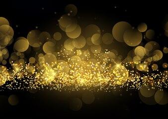 Glittery gold sparkle background