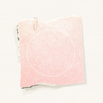 Glittery pink note paper template