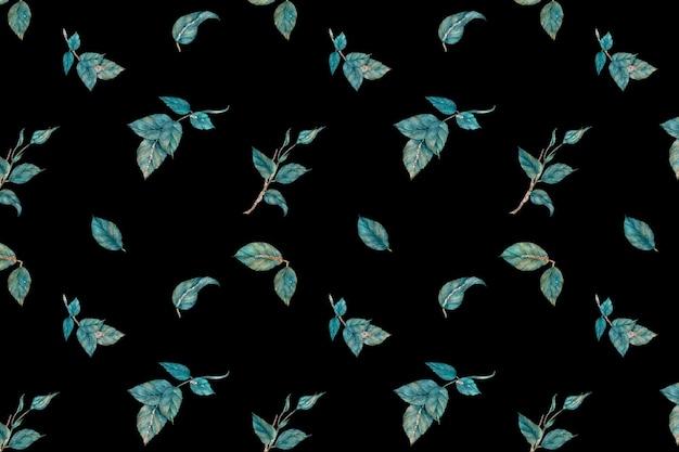 キラキラバラの葉のベクトルパターンの背景