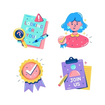 Glitzy hiring stickers collection