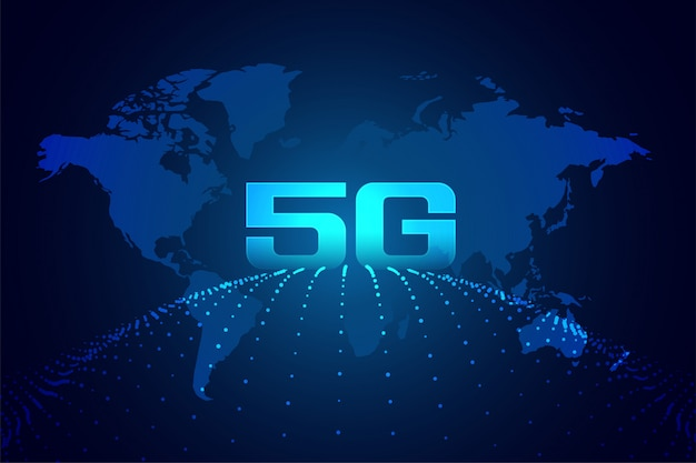 Global 5g technology digital network background