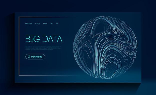 グローバルビッグデータクラウドネットワークの未来的背景抽象的なデジタル技術の背景