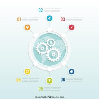 グローバルなビジネスインフォグラフィック 無料ベクター