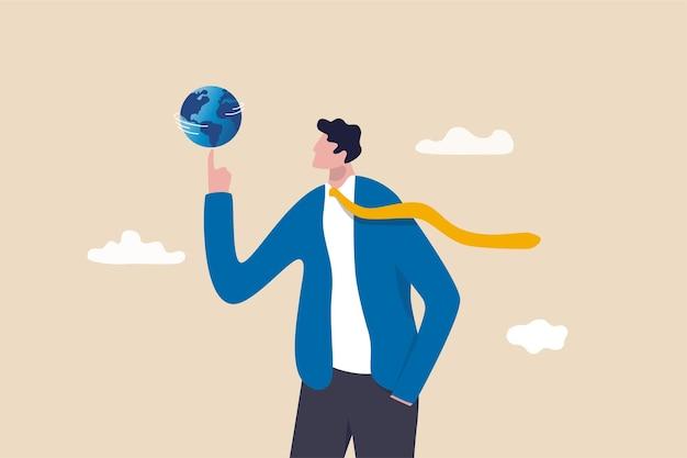 글로벌 비즈니스 또는 세계 경제 개념