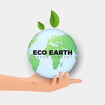地球のクリーンな地球と水の背景