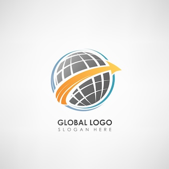 Global concept logo template