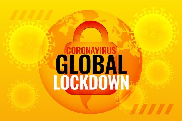 Sfondo di blocco globale del coronavirus a causa dell'epidemia