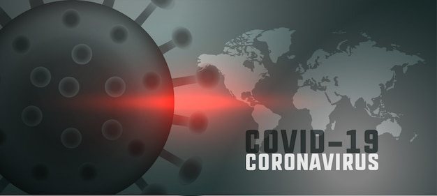 Global coronavirus pandemic background with world map