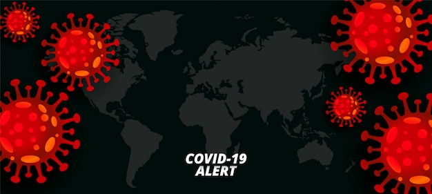 Global coronavirus pandemic outbreak background concept design