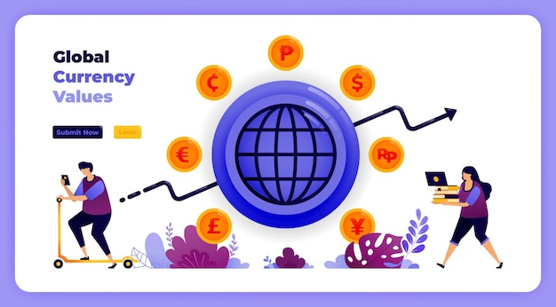 Global currency transactions exchanges in banking financial systems.