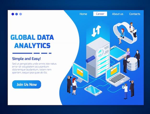 グローバルデータ分析のランディングページ