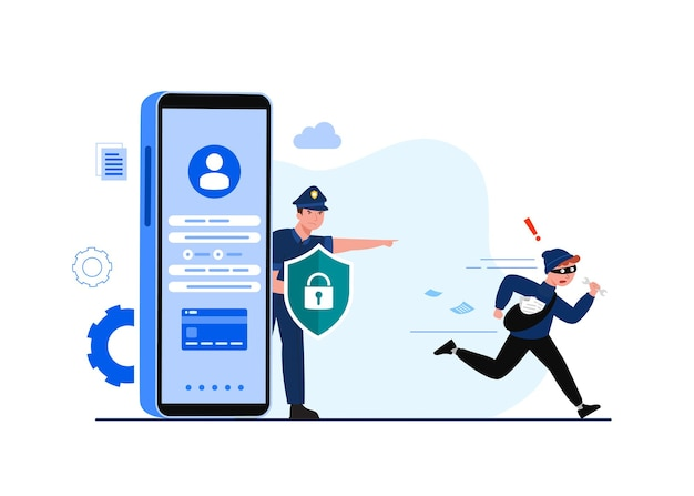 Global data security, personal data security, cyber data security online concept illustration, internet security or information privacy & protection.