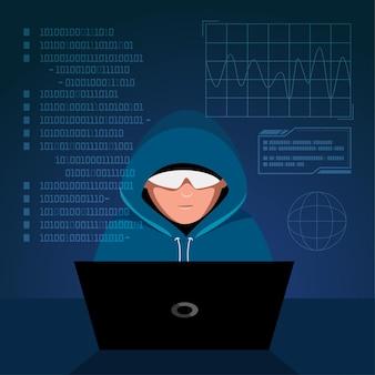 글로벌 데이터 보안, 개인 데이터 보안, 사이버 데이터 보안 온라인 개념 그림, 인터넷 보안 또는 정보 개인 정보 보호 및 보호.