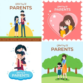 Global day of parents illustration