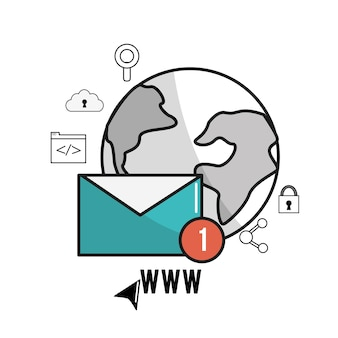 Global e-mail digital data information